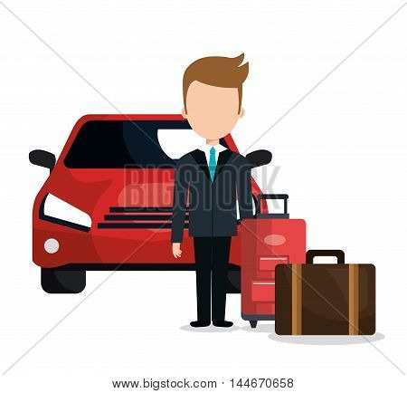 valet parking hotel service vector illustration design