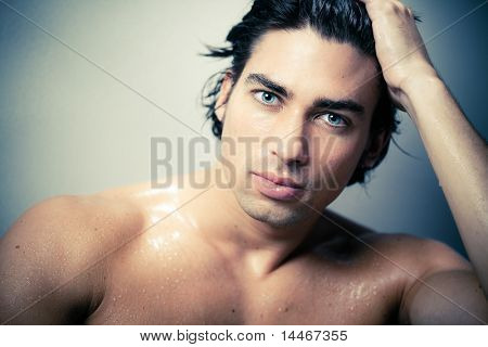 beautiful caucasian man portrait