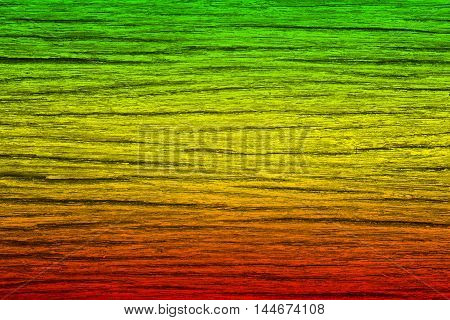 Green red yellow color (reggae style) wood for abstract texture and background
