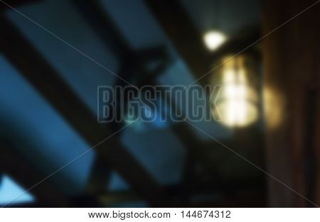 Blur light in the dark, stock photo