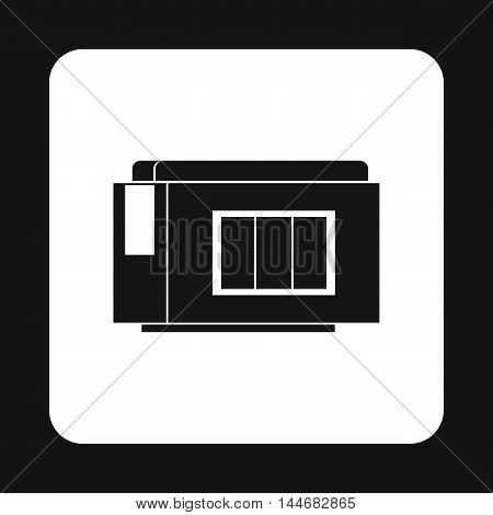 Printer cartridge icon in simple style on a white background