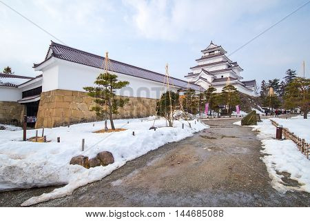 Tsuruga - jo Castle at Fukushima in Japan