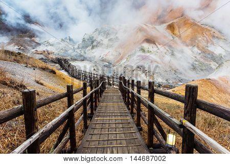 Jigokudani Hell Valley At Dusk