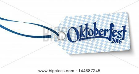 Hangtag With Text Oktoberfest 2016