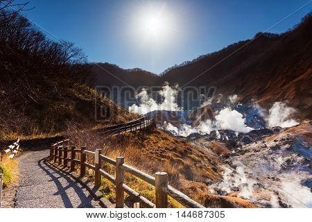 Jigokudani Hell Valley Walking Trail With Sunrise