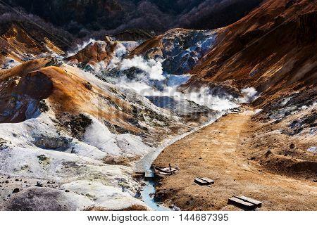 Noboribetsu Hot Spring At Hell Valley