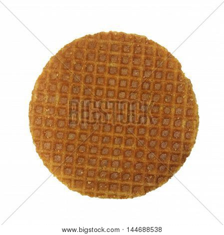 Dutch Waffles isolated on white as background