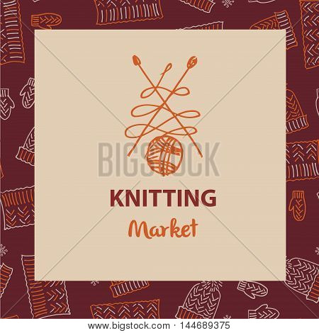Crafts market knitting love vector photo bigstock element of corporate identity banner card for colourmoves