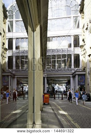 Barton Arcade a Victorian Shopping Arcade in the centre of Manchester built 1871 and extensively restored in the 1980's.