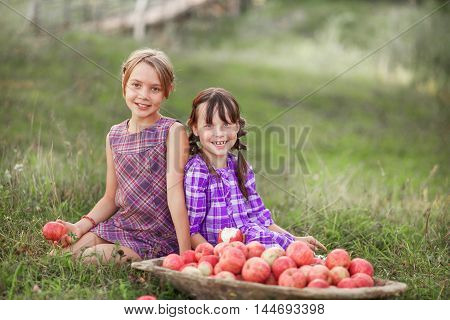 Child Eat Apple.