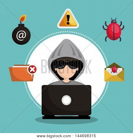 internet security information icon vector illustration design