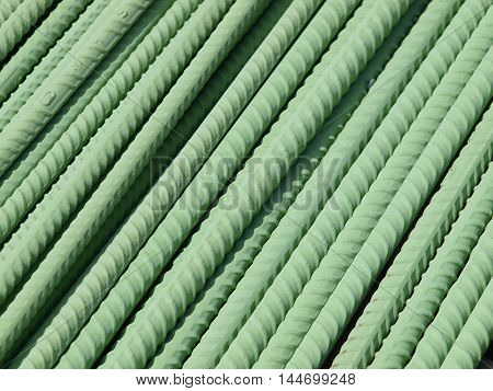 Epoxy Coated Reinforcing Bar used in highway construction