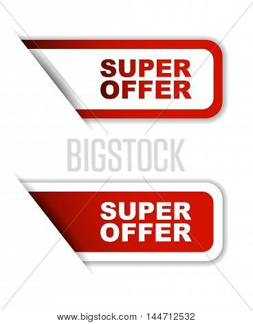 This is red vector paper sticker super offer ( two variant)