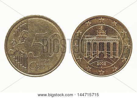 Vintage 50 Euro Cent Coin