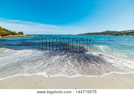 Piccolo Pevero beach under a clear sky Sardinia