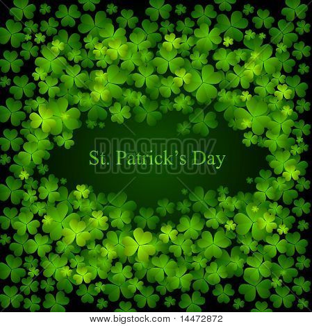 St. Patrick's day background in green colors