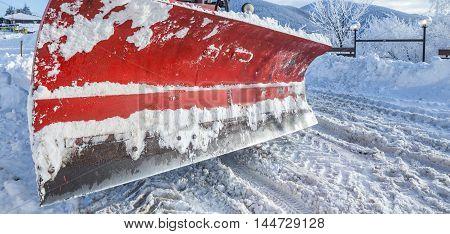 Closeup Of Snow Plough Paddle