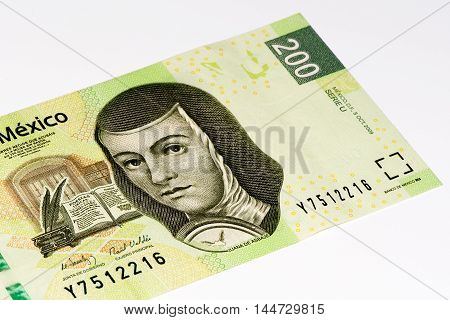 200 Mexican pesos bank note made in 2009