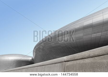Seoul, South Korea - August 13, 2016: Dongdaemun Design Plaza Located In Seoul, Designed By Zaha Had