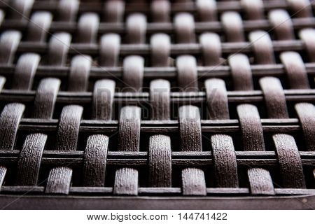 Woven Plastic Artificial Wicker Texture Wood Fake poster