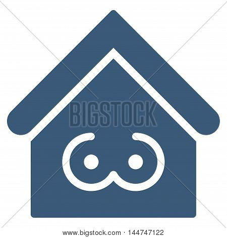 Strip Bar icon. Glyph style is flat iconic symbol, blue color, white background.