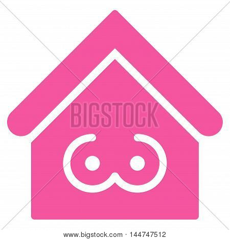 Strip Bar icon. Glyph style is flat iconic symbol, pink color, white background.