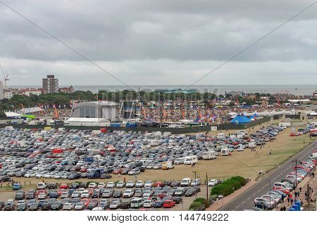 Portsmouth/UK. 28th August 2016. The summer Victorious music festival attracts around 30,000 festival goers to Southsea common in Portsmouth on the UK's South Coast.