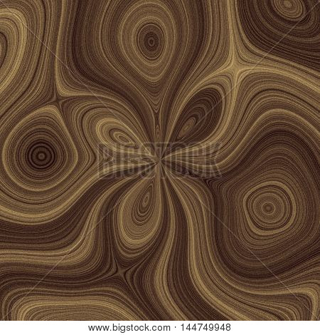 Light and dark brown lined waves as a graphic background