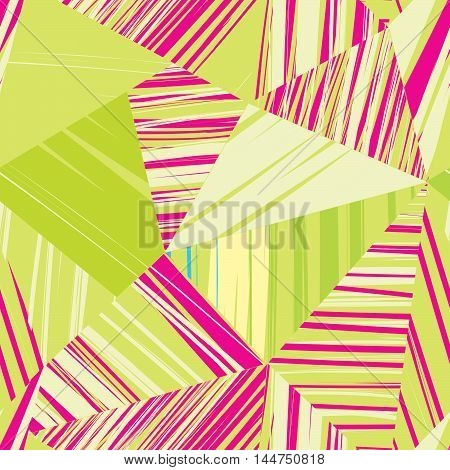 Abstract seamless pattern of geometric shapes. Geometric background. Retro triangle background. Colorful mosaic banner desgn.