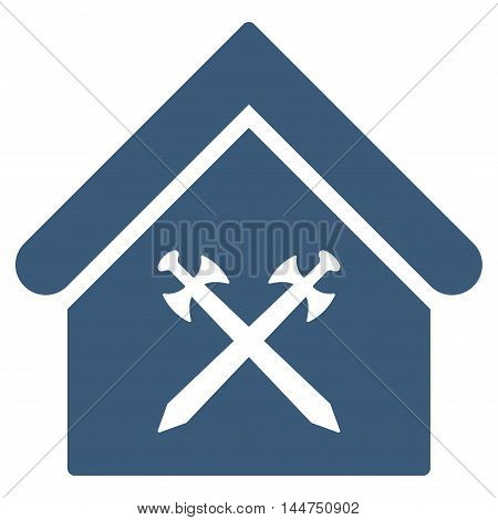 Guard Office icon. Vector style is flat iconic symbol, blue color, white background.