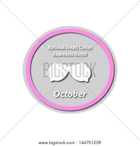 Breast Cancer Month - October. Mammary cancer. Breast cancer. Baner. Vector illustration on isolated background.