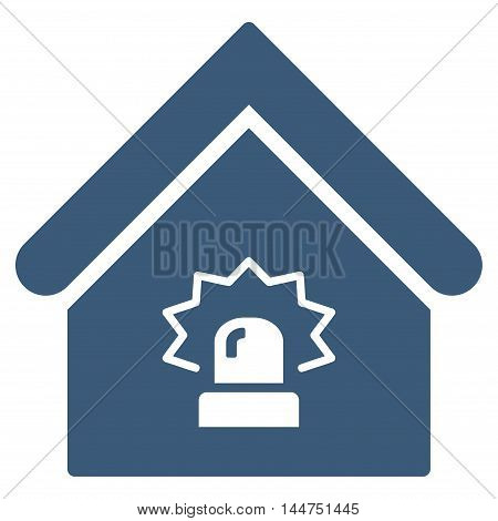 Realty Alarm icon. Vector style is flat iconic symbol, blue color, white background.