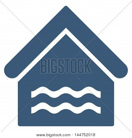 Water Pool icon. Vector style is flat iconic symbol, blue color, white background.