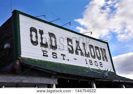 The Old Saloon a Montana landmark was established in 1902 and has served cowboys and ranch hands for over a hundred years. Saloon is located in Paradise Valley Montana.
