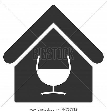 Alcohol Bar icon. Vector style is flat iconic symbol, gray color, white background.