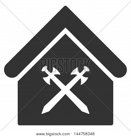Guard Office icon. Vector style is flat iconic symbol, gray color, white background.
