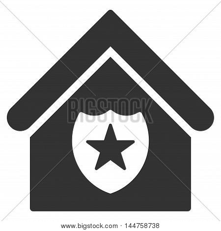 Realty Protection icon. Vector style is flat iconic symbol, gray color, white background.