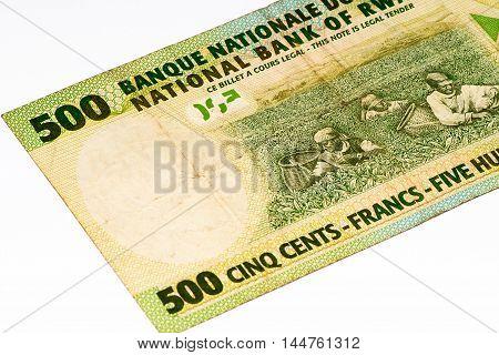 500 Rwandan francs of Rwanda. Rwandan francs is the national currency of Rwanda