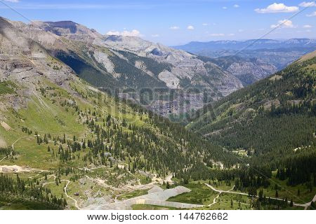 Beautiful lookout point at Imogene Pass in Ouray, CO