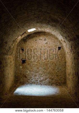 Underground Tunnel In Old Fortress