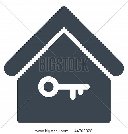 Home Key icon. Vector style is flat iconic symbol, smooth blue color, white background.