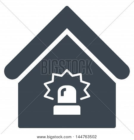 Realty Alarm icon. Vector style is flat iconic symbol, smooth blue-grey color, white background.