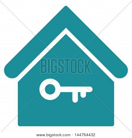 Home Key icon. Vector style is flat iconic symbol, soft blue color, white background.