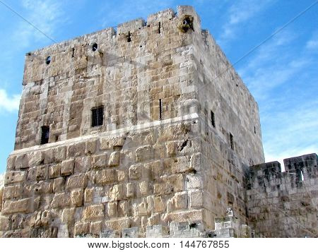 David's Citadel near Jaffa gate in Jerusalem Israel