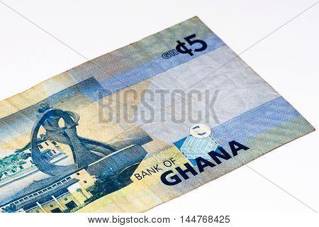 5 Ghana cedi bank note. Ghana cedi is the national currency of Ghana