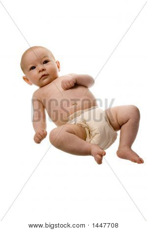 Infant In Diapers