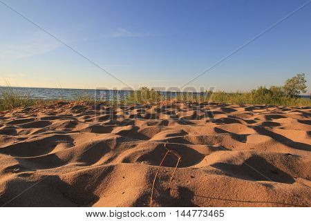 Sand of a Traverse City, MI. USA