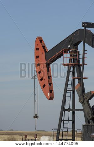 A pumping oil well in North Dakota