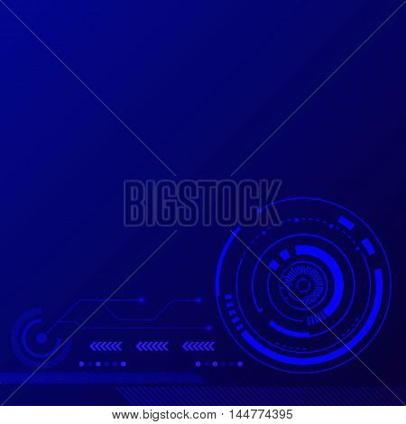 Abstract blue modern futuristic technology background vector illustration