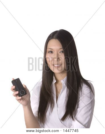 Woman With Mp3 Player